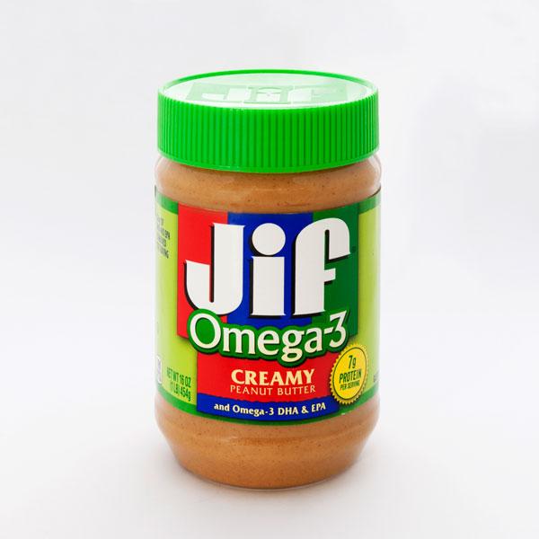Jif クリーミーオメガ3 ピーナッツバター 454g