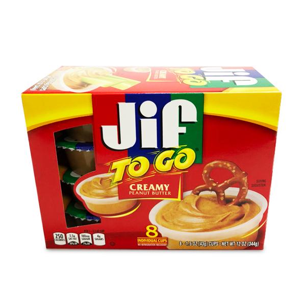 Jif ピーナッツバター TOGO クリーミー 8個入り