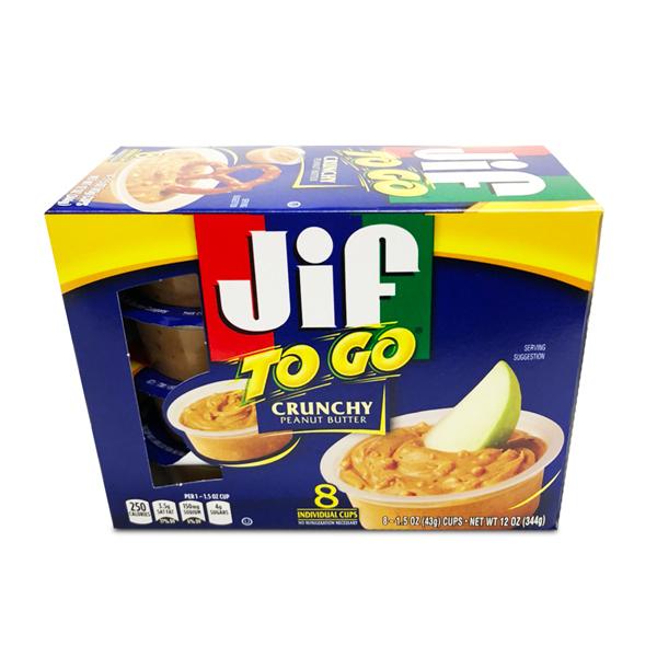 Jif ピーナッツバター TOGO クランチ 8個入り
